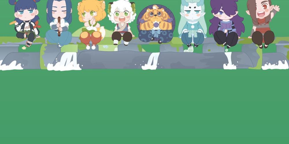 羅小黑戰記屋檐系列人形盲盒潮玩手辦動漫公仔大電影周邊正版現貨*可魯可丫