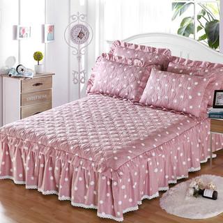 Новый полный хлопок стеганый постельное покрывало кровать юбка один модель утолщенный чистый хлопок 1.8m защитный кожух пылезащитный чехол 1.5 кровать один, цена 888 руб