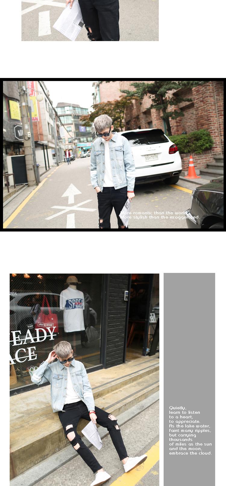 Mùa xuân và Mùa Thu Nam Áo Khoác Mỏng Áo Khoác Hàn Quốc Slim Sinh Viên Bình Thường Denim Jacket Trendy Joker