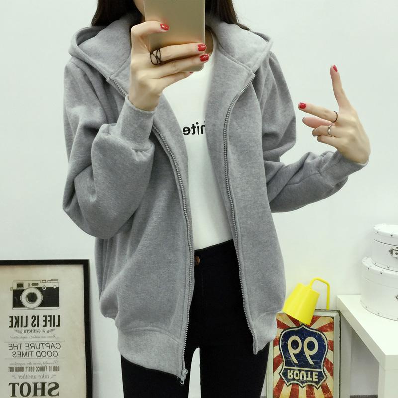 外套卫衣运动休闲棒球韩版短款学生服夹克加绒加厚秋冬季小开衫女