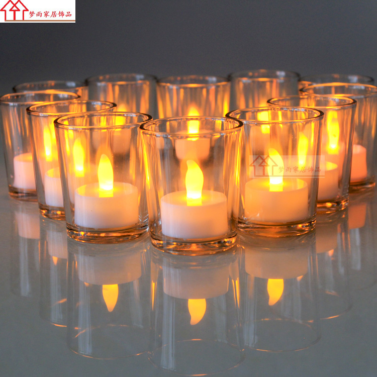 Usd 5 22 Windproof Straight Glass Candle Holder Wedding Hotel
