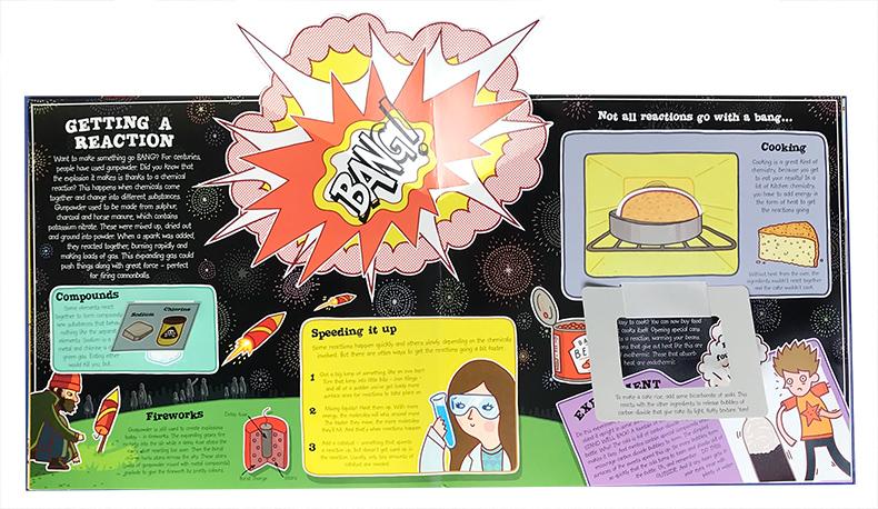 【中商原版】趣味科普立體書系列 化學 英文原版 Molecule Mayhem 精裝 STEM知識 6-12歲