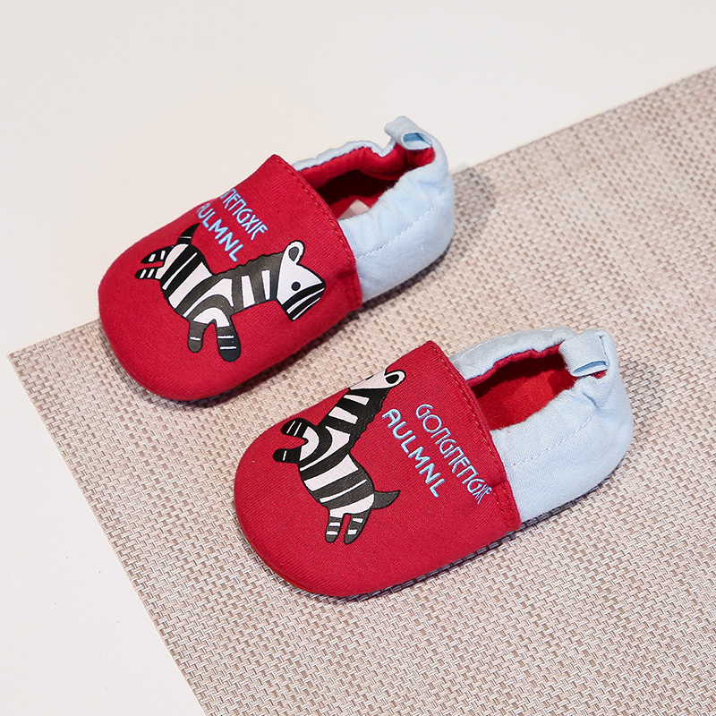 RED ZEBRA RUBBER SOLE SHOES