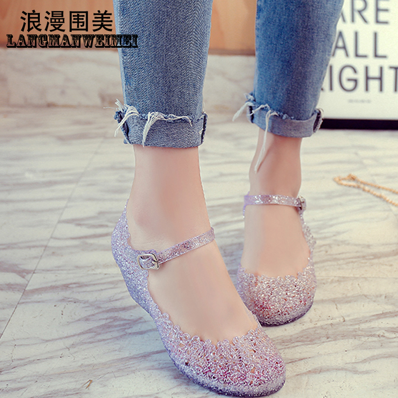 a9d57d285fbd9e Cave shoes bird nest shoes women s shoes wedge sandals Princess Crystal  high heels female jelly shoes · Zoom · lightbox moreview · lightbox  moreview ...