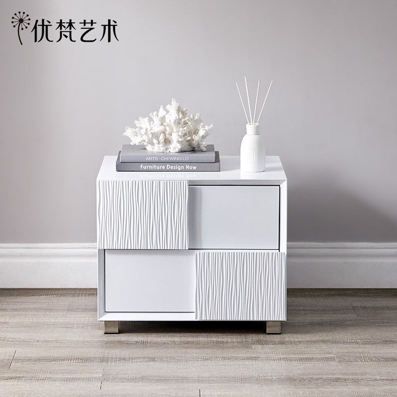 (Special 50% off) modern minimalist bedside table white bedside small cabinet bedroom storage