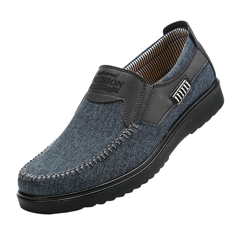老北京布鞋秋季中老年男鞋爸爸中年男士休闲防滑软底老人老头单鞋