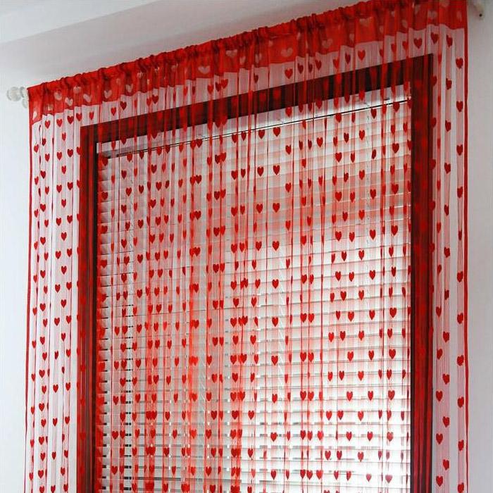 Корейские любовные шторы дверь Занавес занавеса крыльцо делитель занавес персик в форме сердца детский сад милый декоративный занавес