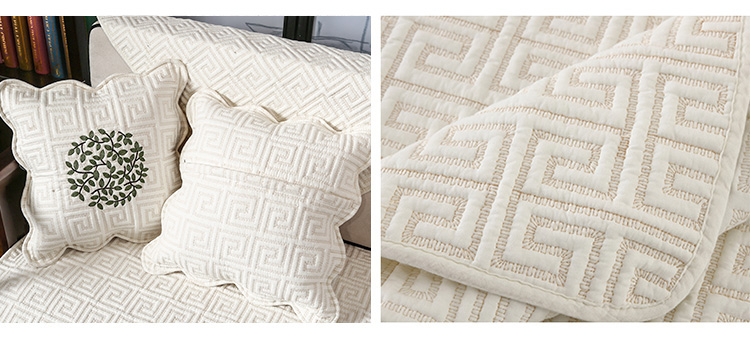 纯棉沙发垫四季通用布艺防滑高檔坐垫沙发套罩北欧简约现代盖布巾详细照片