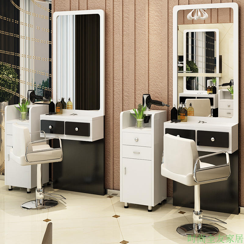 New Listing Hair Salon Mirror Barber Shop Mirror Single And Double Hair  Salon Mirror With Cabinet ...