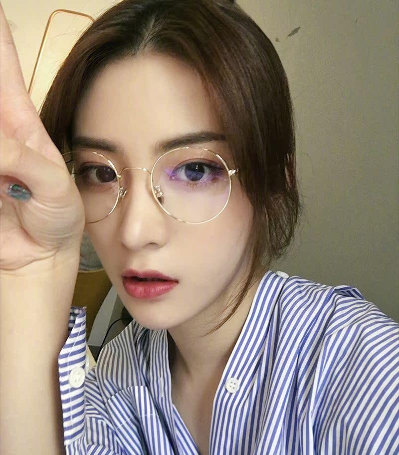 7836c79c24 Korean version of the tide retro Harajuku gold wire round glasses ...