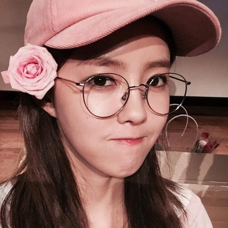 c42737d7c0 Korean version of the retro Phnom Penh round glasses frame female cute  round face Su Yan ...
