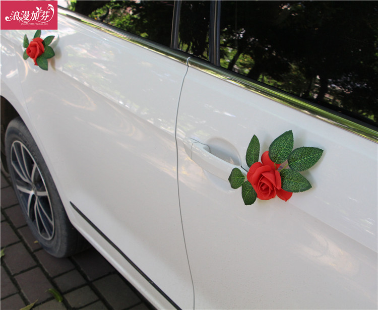 Wedding car decorations door decoration flowers main car vice car  decoration accessories door small flowers high-grade decorative flowers  creative
