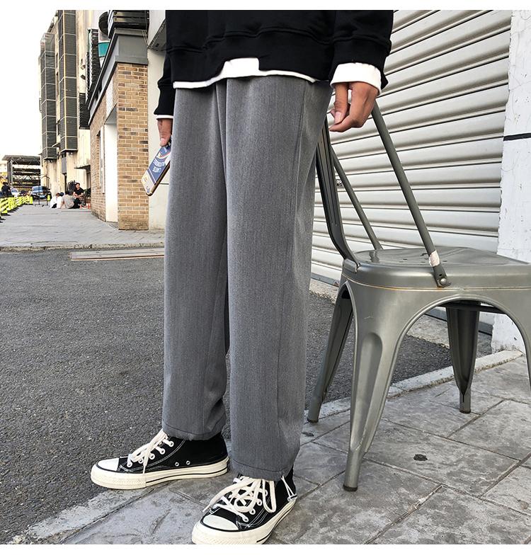 现货 春装男士直筒宽松西装裤休闲裤男港风大码 K810-P45