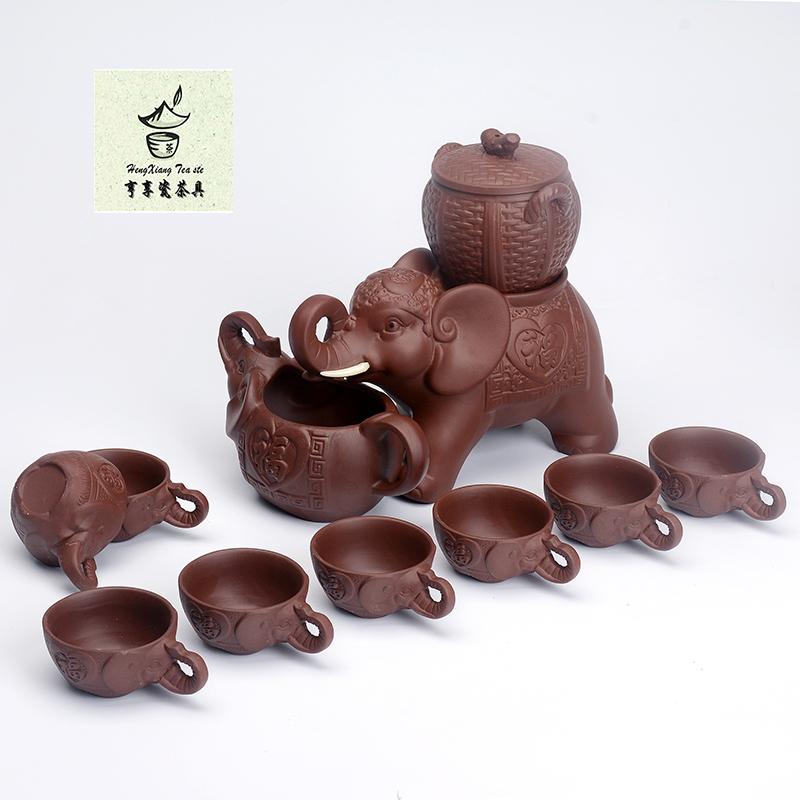 复古粗陶万象全半自动懒人防烫泡茶器创意整套紫砂功夫茶具礼盒装