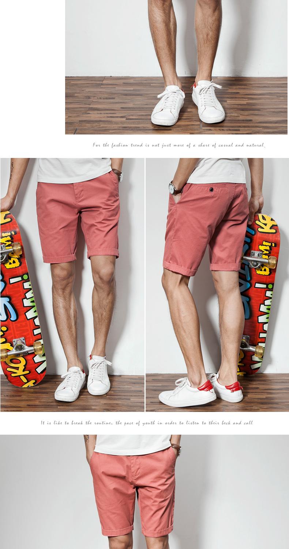 Quần short giản dị người đàn ông mùa hè của nam giới mỏng bông quần quần quần mùa hè bãi biển quần nam giới 5 điểm năm điểm quần thủy triều