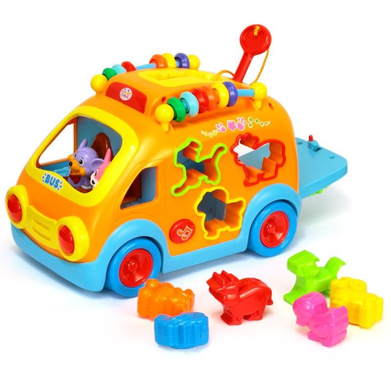 儿童早教益智万向电动音乐玩具车