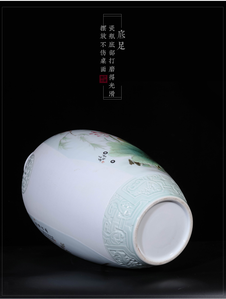 Dong - Ming li hand - made celadon vase jingdezhen ceramic Chinese style living room in pastel its of porch TV ark, furnishing articles