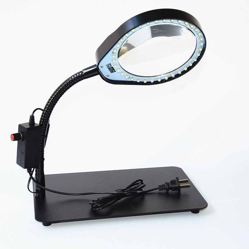Usd 4439 pdok pd 032c desktop magnifying glass 10x with light pdok pd 032c desktop magnifying glass 10x with light brightness adjustable led table lamp magnifying glass anti static aloadofball Choice Image