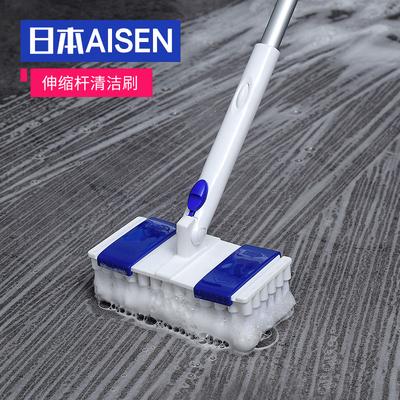 日本AISEN长柄地板刷洗卫生间厕所瓷砖浴室墙面刷地刷子清洁神器