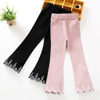 Girls flared pants spring and summer 2021 new trendy children's clothing girls outer wear big children's thin pants summer clothes