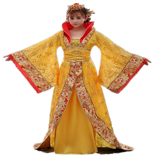Chinese Folk Dance Dress Empress Wu Zetian's costume of Tang Dynasty