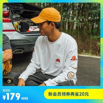Nike nike официальный NIKE SB человек длинный рукав карман скейтборд T футболки CZ6176, цена 3704 руб