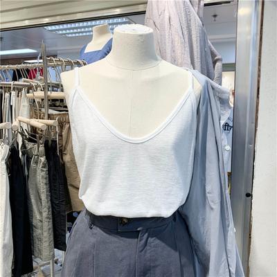 2020夏装新款修身显瘦V领打底小吊带衫简约百搭美背网红性感背心
