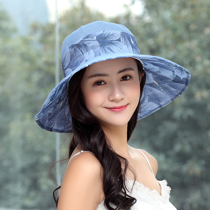 522849faaac5b Hat female summer sun hat Korean version of the visor can be folded Face  outdoor sunscreen travel along the beach hat