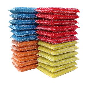 24片洗刷大王厨房清洁海绵百洁布洗碗布抹布洗碗刷彩色海绵擦
