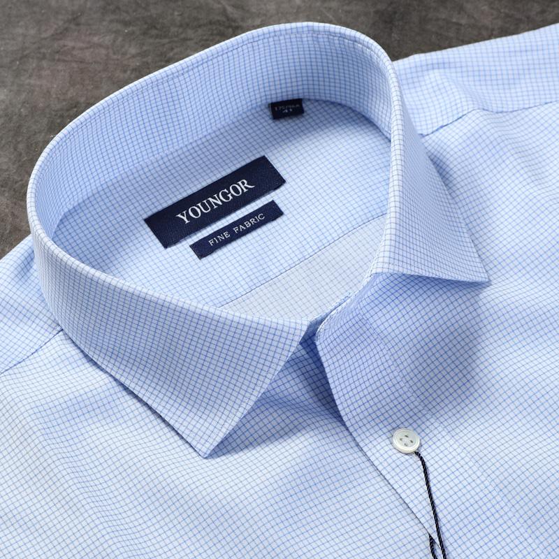 雅戈尔衬衫秋冬季男士衬衣免烫长袖绅士纯棉新品商务YLTP11613HBA