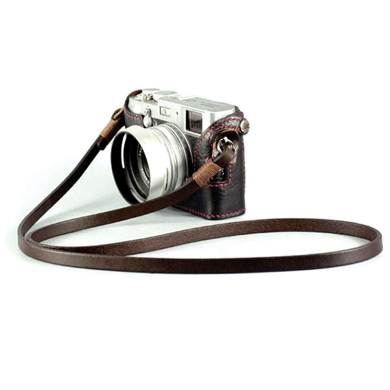 BHW франция 8mm ручной работы камера ремень лицевая коровья кожа ретро слегка один веревка натуральная кожа ремень зеркальные шнур