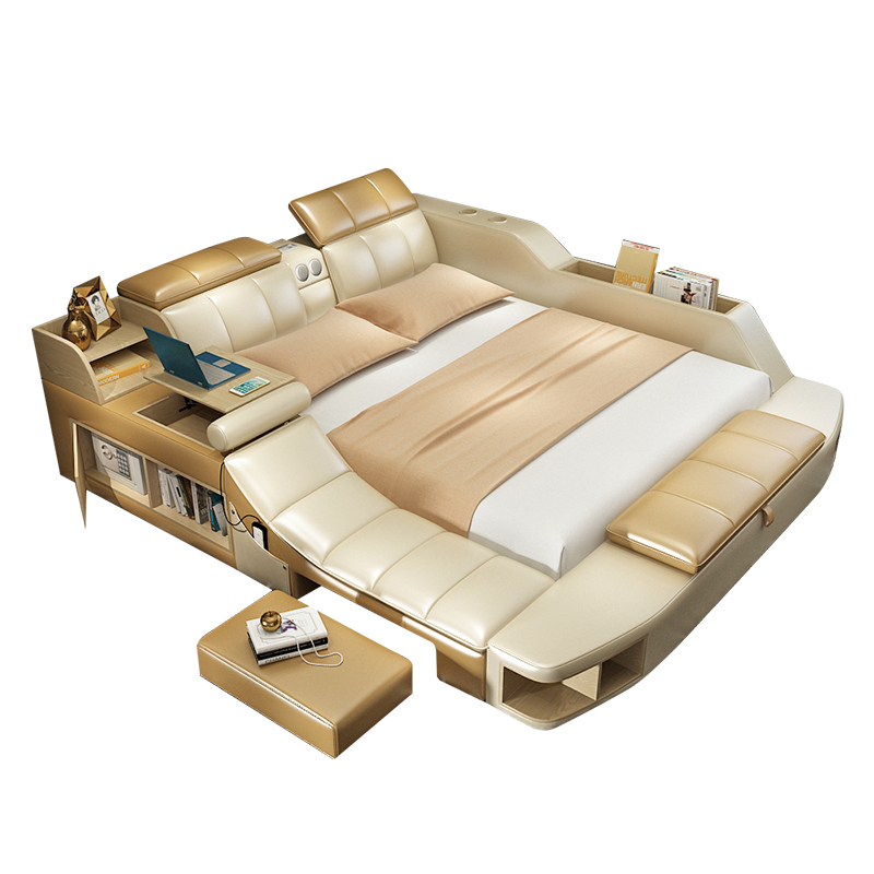 Usd Tatami Bed Master Bedroom Leather Bed Modern Simple Massage Double Software