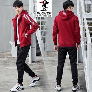 Plover2019春季卫衣套装男秋季韩版潮流两件套休闲运动衣服两件套