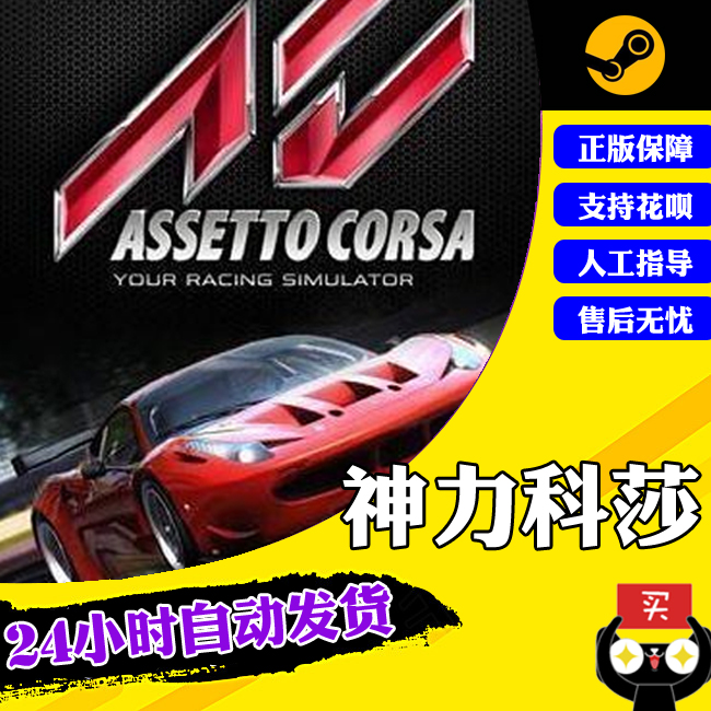 PC Chinese genuine steam game Assetto Corsa Realistic racing game divine Kesha