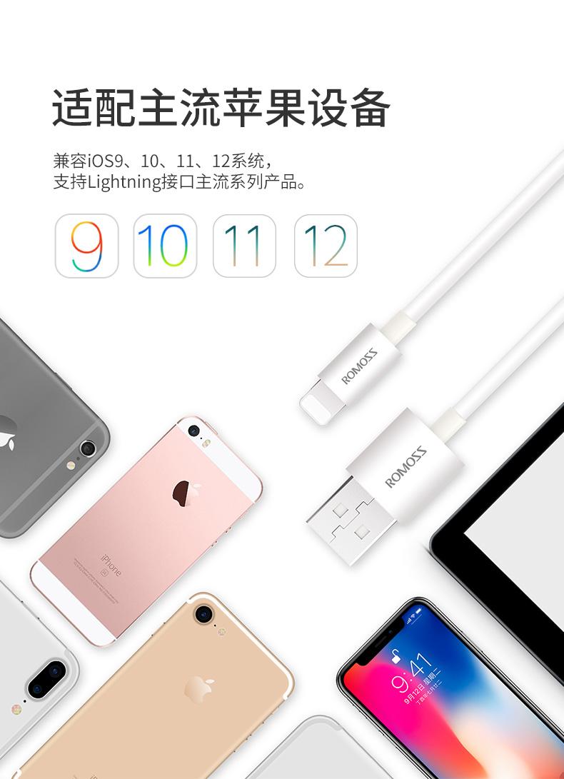 罗马仕 Lighting 苹果手机数据线 1m 图5