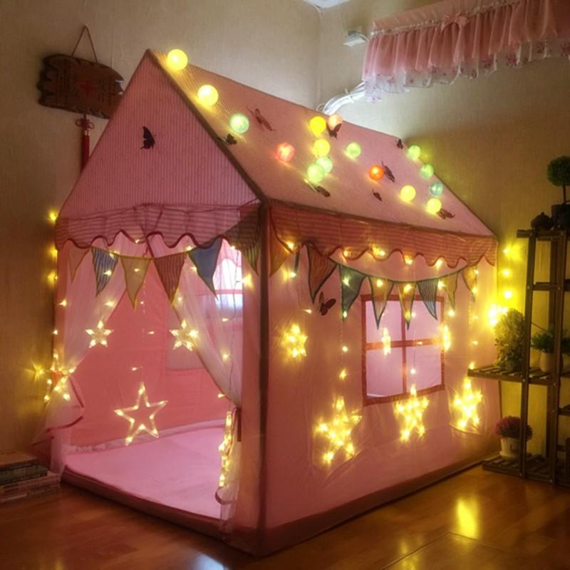 公主屋睡觉简易野营防雨室内外玩耍儿童帐篷游戏野餐卡通小屋3岁5