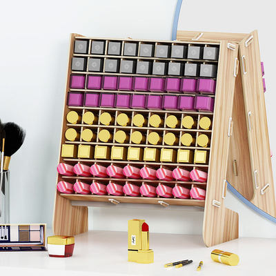 Lipstick storage box Containers with small luxury small mount cosmetics multi-grid racks INS girl heart cute