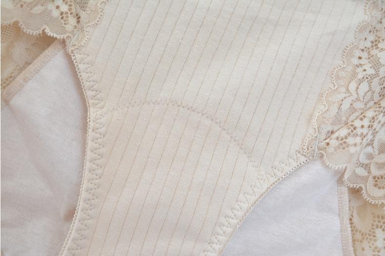 出口日本女生理内裤纯棉高腰月经期透气抗菌卫生防漏大尺码胖详细照片