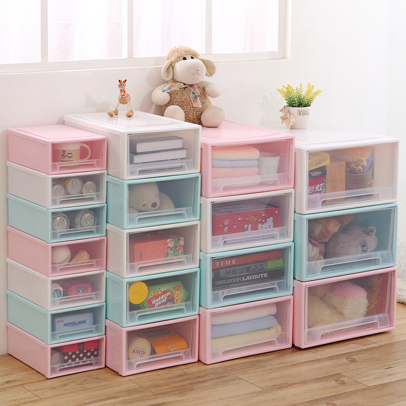 Thick Transparent Plastic Drawer Storage Box Storage Box Storage Cabinet  Drawer Cabinet Childrenu0027s Baby Wardrobe Cabinets