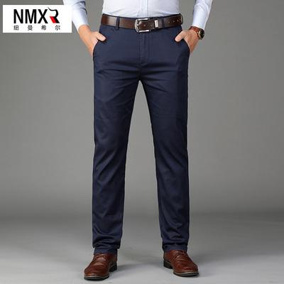 Mùa xuân quần âu nam cộng với áo khoác ngoài nhung mùa xuân và mùa thu kinh doanh phù hợp với quần tây quần dài trung niên quần lỏng - Quần