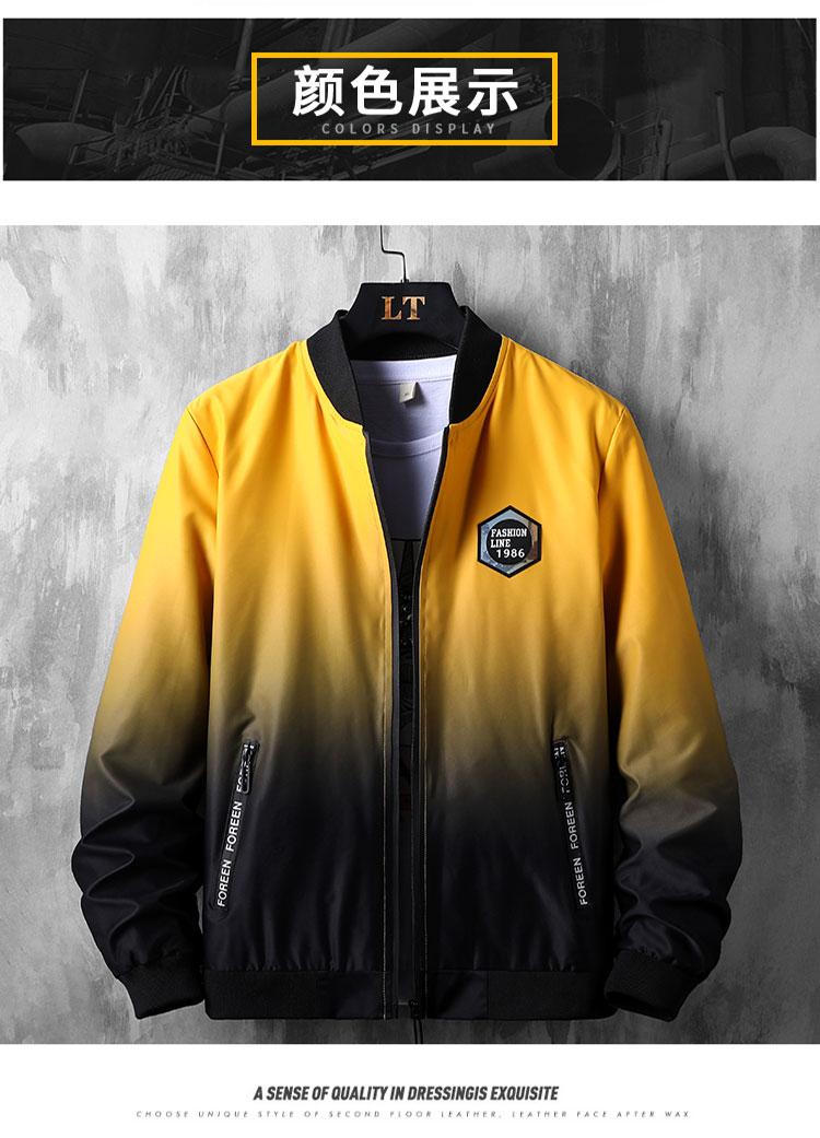 Người đàn ông giàu có áo khoác nam mùa xuân và mùa thu chàng béo mặc áo khoác nam cộng với chất béo XL lỏng chất béo thương hiệu thủy triều - Cực lớn