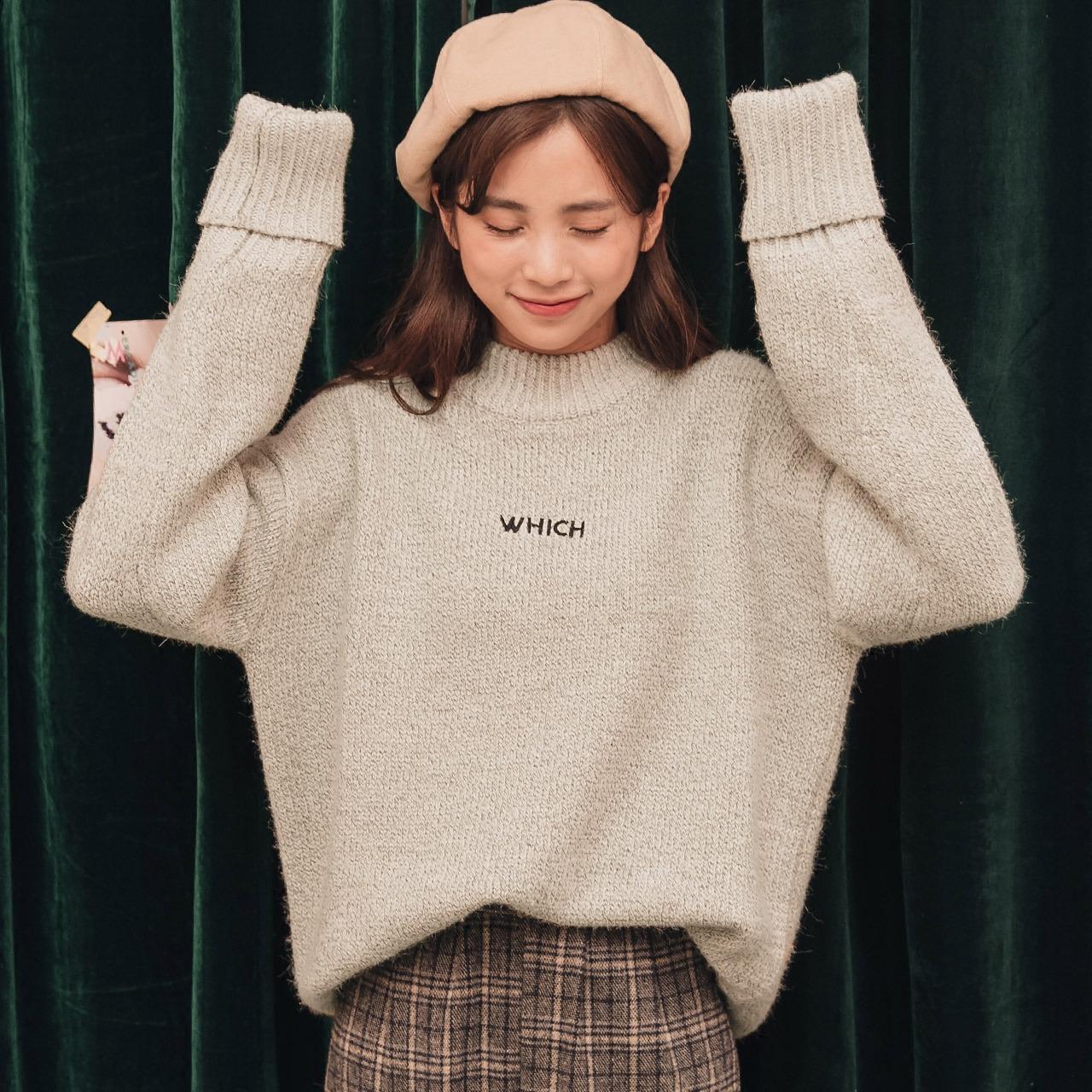 短款套头加厚女生高领毛衣韩版宽松粗毛线学院风学生百搭冬季毛衣