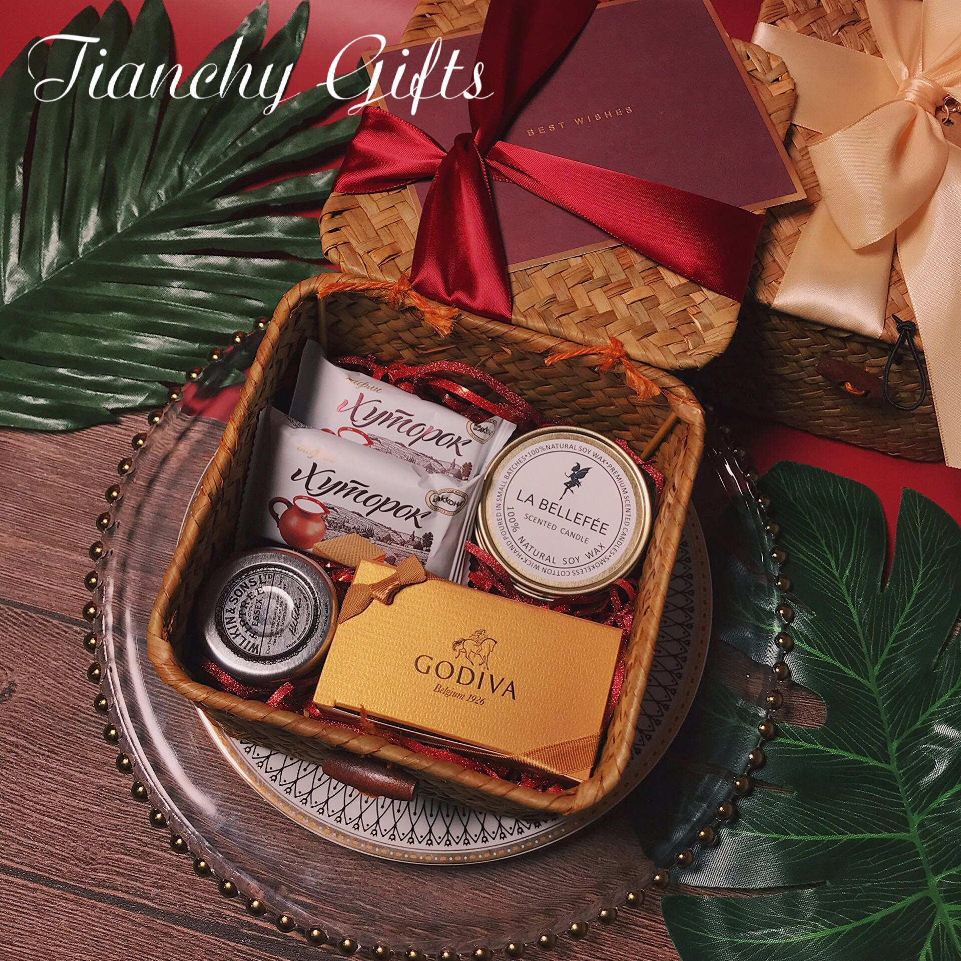 伴手礼物盒包装喜糖空盒ins风女伴娘结婚生日创意编织篮子礼品盒