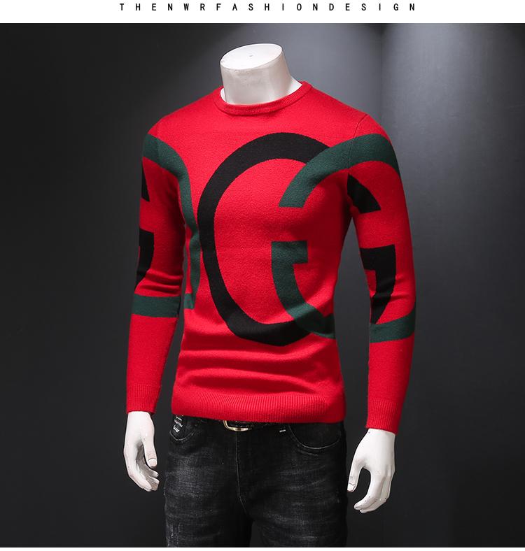Áo len nam mùa thu và mùa đông xu hướng thời trang áo len mỏng dày áo len đáy quần áo len - Áo len