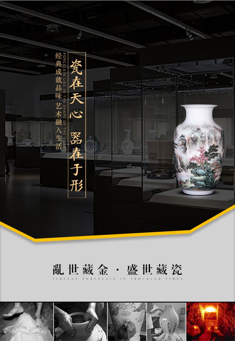Jingdezhen ceramic vase hand - made vases furnishing articles sitting room office decoration decoration of Chinese style household bottle arranging flowers