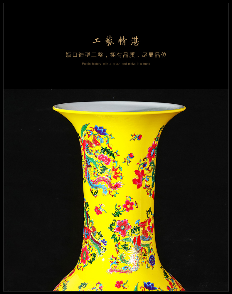Jingdezhen ceramics vase landing in extremely good fortune Chinese king hotel in the sitting room porch retro furnishing articles