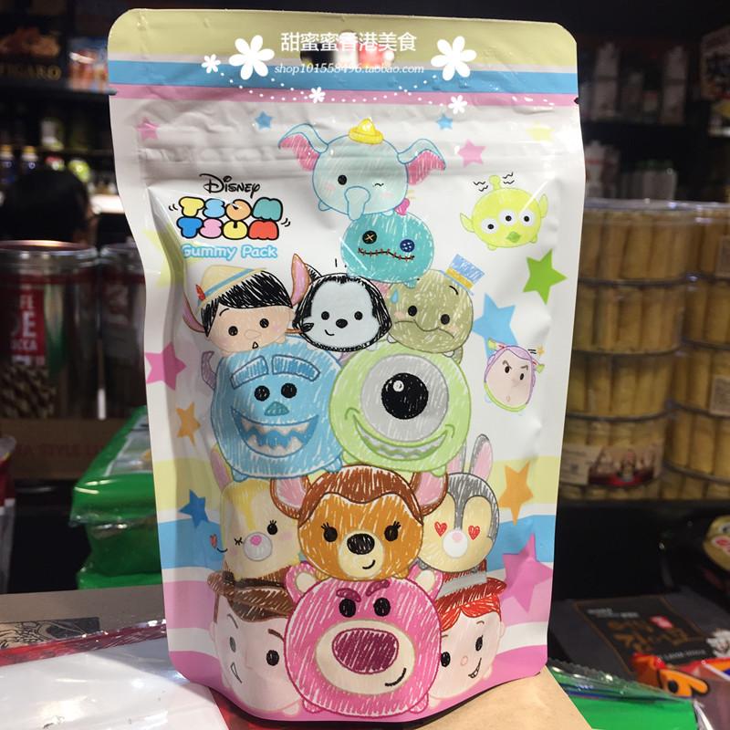 香港代购迪士尼TSUMGummyPack零食味水果橡皮糖60g软糖儿童