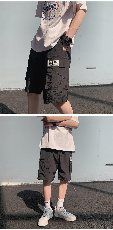 K1038/P40男士夏季短裤男韩版潮休闲裤工装宽松大码五分裤沙滩裤
