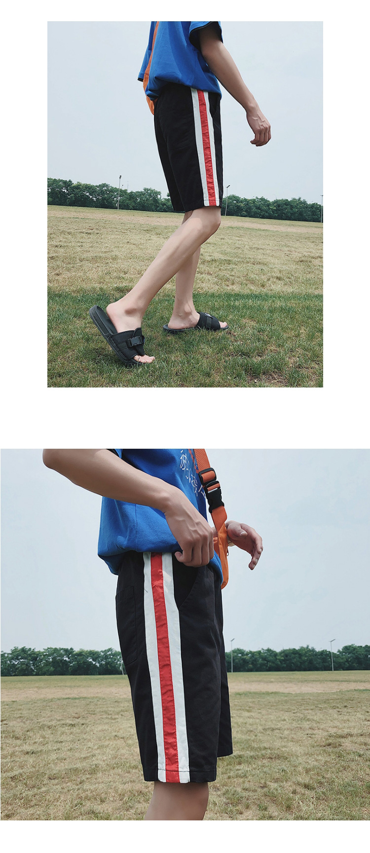 K938/P25韩版潮流五分休闲裤薄款宽松短裤夏季学生百搭大码沙滩裤