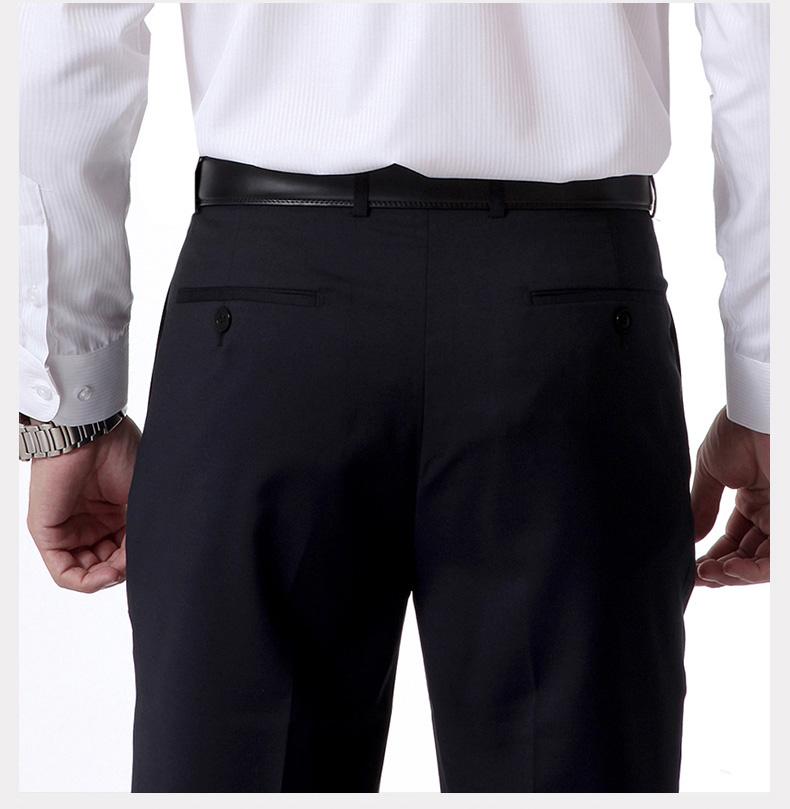 Sơn Sơn quầy ăn mặc phù hợp với quần 2018 mới mùa hè kinh doanh của nam giới màu xanh hải quân người đàn ông thẳng của quần mỏng